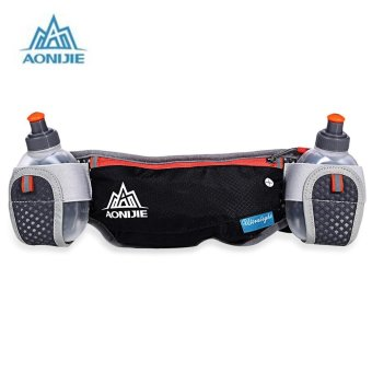 AONIJIE Unisex Running Waist Bag with 170ML Water Kettle (Black) - intl Price Philippines