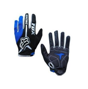 Harga Fortress Motorcycle /Bike Cycling Full Finger Gloves (Blue/Black/Grey)