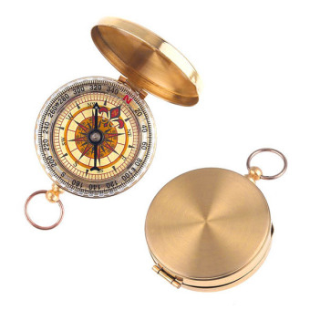 Harga Classic Brass Pocket Watch Style Camping Compass Hiking