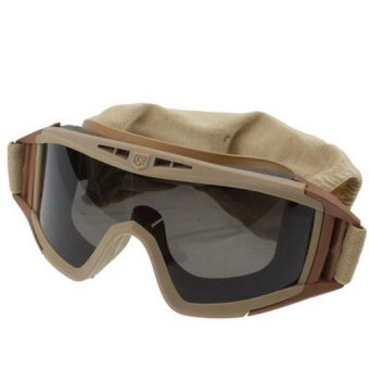 Desert Locust Ballistic Goggles (3pcs Protection Divided Lens in one packaging, the price is for 3 pcs), Khaki Price Philippines