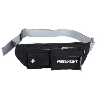 Free Knight Water Resistant Running Belt Waist Pouch Camping Hiking Bags (Black) - intl Price Philippines