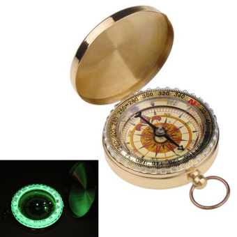 Harga Outdoor Camping Hiking Portable Brass Pocket Golden Compass Navigation