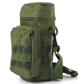 Outdoor Militray Tactical Molle Zipper Water Bottle Pouch Bag Carrier Hiking Green - intl Price Philippines