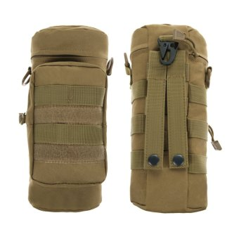 Molle Zipper Water Bottle Hydration Pouch Bag(Khaki) Price Philippines