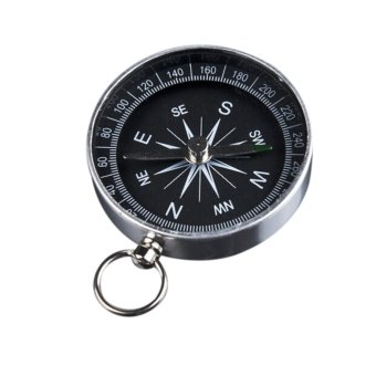 Harga Pocket Compass Portable For Camping Silver - intl