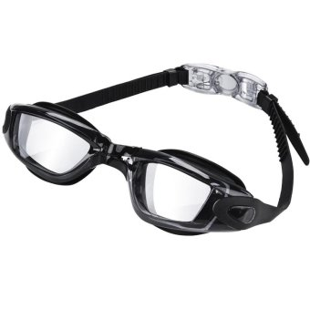 Anti-Fog Swim Goggles No Leaking Clear Swimming Goggles Glasses with Free Protective Case for Adult Men Women Youth Kids Child (Black) - intl Price Philippines