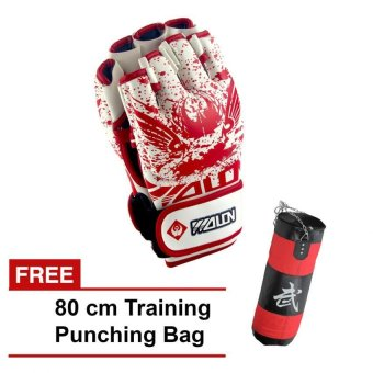 Harga Flying Star MMA Boxing Gloves 10 OZ(White) with FREE 80 cm Training Punching Bag