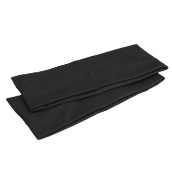 Harga 2Pcs Yoga Fitness Cotton Elastic Headband Black