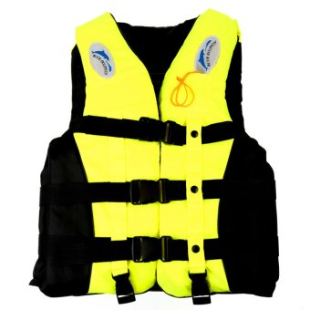 Harga Adult Swimming Foam Life Jacket Vest Whistle Prevention Flood M Yellow - intl