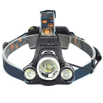 Harga Fancytoy 6000LM 3x XM-L T6 LED Headlamp Headlight Head Torch Lamp 18650+2X EU Charger