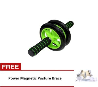 Braked AB Wheel (Green) with Free Power Magnetic Posture Brace Price Philippines