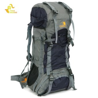 Free Knight FK008 Outdoor 60L Nylon Water Resistant Backpack Mountaineering Camping Bag (Black) Price Philippines