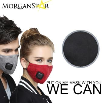 Wecan 2.5 pm dustproof plain cotton face masks with filter breathing valve (Black) (Male) Price Philippines
