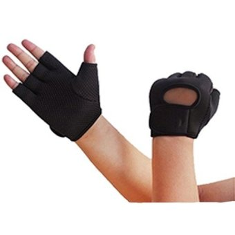 Jetting Buy 1Pairs Men Women Weight Lifting Gloves Gym ExerciseBlack Price Philippines