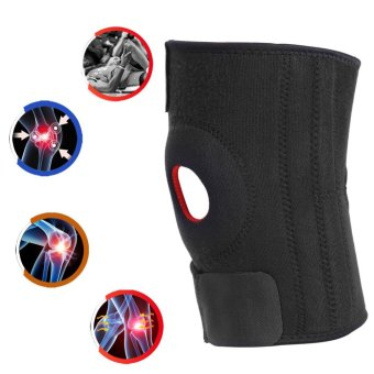 Justgogo- Knee Brace, Breathable Anti-slip Protector Compression Adjustable Knee Support Strap