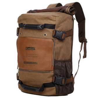 KAUKKO FH09 Outdoor Multifunction 18L Male Canvas Backpack Bag -Khaki