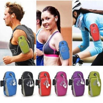 KCmall NEW Fashion Man Women Running Riding Nylon Jogging Sport Arm band Gym Arm Bag Phone Pouch Case Cover for Cell phones 5.7inch - intl