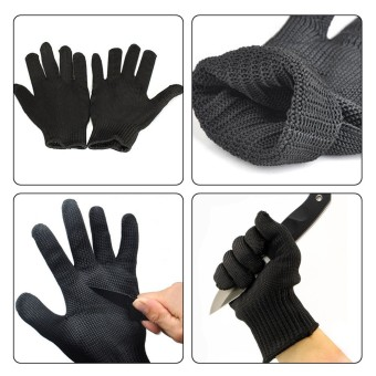 kevlar Gloves Proof Protect Stainless Steel Wire Safety Gloves CutMetal Mesh Butcher Anti-cutting breathable Travel Kit 1pair - intl