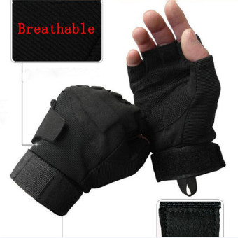 LALANG Sports Fitness Gloves Black