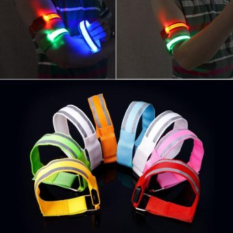 LED Reflective Light Arm Armband Strap Safety Belt For NightRunning Cycling(Green) - intl Price Philippines
