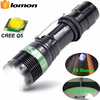 LOMON Powerful CREE Led Flashlights Torches Q5 Waterproof Tactical Flashlight Rechargeable LED Light Torch for Bike - intl Price Philippines