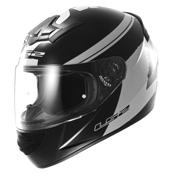 LS2 Full-Face FF352 Fluo Helmet (Black/White)