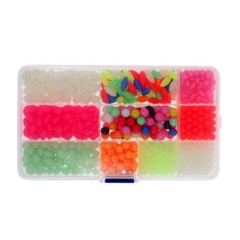 MagiDeal 1000pcs Plastic Glow Fishing Beads Round Oval Luminous Floating Tackle Beads - intl Price Philippines