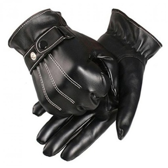 Man Pu Leather Driving Gloves - intl
