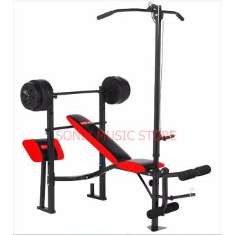 MATRIX MX-168 WEIGHT BENCH PRESS 7 IN 1 WITH 80LBS PLATES