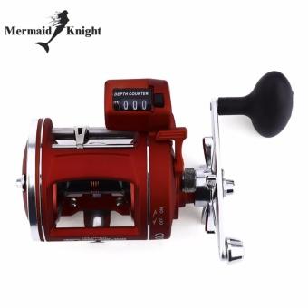 MermaidKnihht Spinning Reel Trolling Boat Fishing Reels Counter Alarm Bell Drum Fishing Vessel Plate Baitcasting Wheel - intl