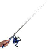 Mini Portable Telescopic Fishing Rod (Blue) - 2