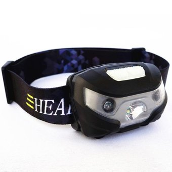 Mini Rechargeable LED Headlamp 3000Lm Body Motion Sensor Headlight Camping Flashlight Head Light Torch Lamp With USB - intl