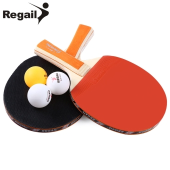 MiniCar REGAIL A508 Table Tennis Ping Pong Racket Two Long HandleBat Paddle Three Balls Orange(Color:Orange) - intl Price Philippines