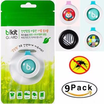 Mosquito Repellent Natural Citronella. NO Band NO Patch CLIP TYPE. Outdoor & Indoor for Adults & Kids Bug Insect Protection for up to 3 mouth & DEET-FREE Resealable Individual Zip Pack x 9 Pack - intl