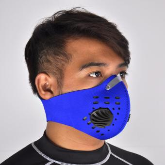 Motorcycle Cycling Neoprene Anti-dust Anti-fog Anti Pollution CityFace Mask Half Face Outdoor Sports Ski Mask & Filter TrainingMask (Blue)