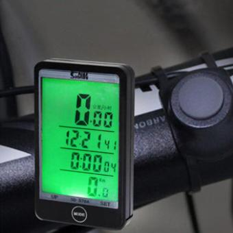 Multifunction Cycling Odometer Wireless Bicycle Computer BikeSpeedometer - intl