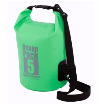 Ocean Pack Waterproof Floating Dry Bag 5L ideal for Outdoor Sports(Green)