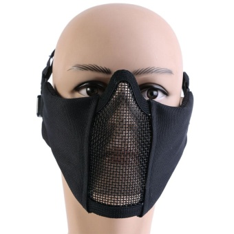 Outdoor Activity Tactical Airsoft Game Half Protective Steel MeshFace Cover /Mask 1# - intl