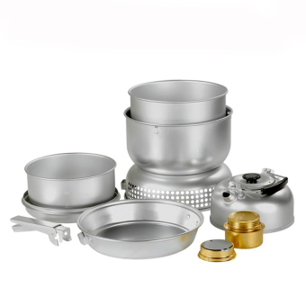 Outdoor Aluminum Solid Liquid portable alcohol stove cookware