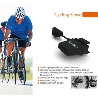 Outdoor Bike Bicycle Cycle Speed Cadence Sensor Bluetooth LE Smart Fitness for iPhone for iPad - intl