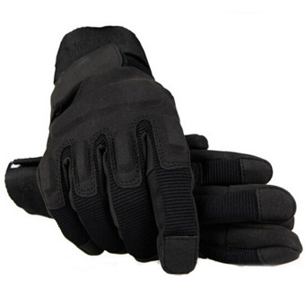 Outdoor Product Airsoft Hunting Hiking Cycling Motorcycle DrivingTactical Hand Gloves Black (Intl)
