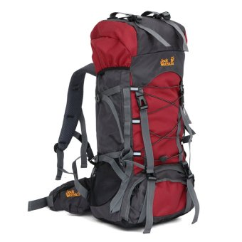 Outdoor Sports Climbing/Hiking Backpack Large Capacity Back Bag - Red