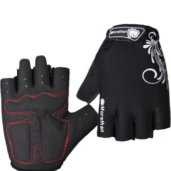 PAlight Breathable Anti-slip Anti-shock Cycling Gloves (Black L)