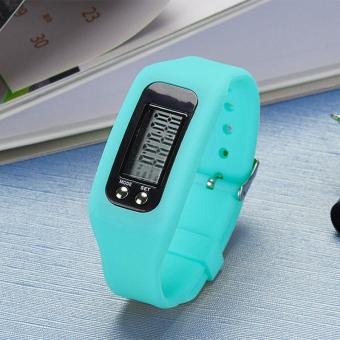 PAlight Digital LCD Pedometer Run Step Walking Distance Calorie Counter Sport Watch Bracelet - intl