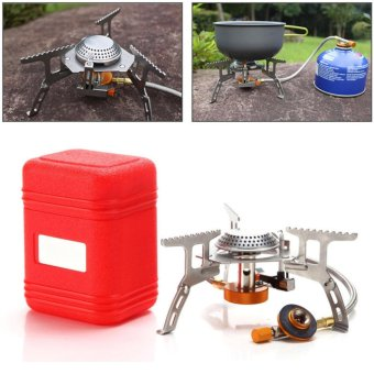 PAlight Portable Outdoor Split Gas Stove Camping Hiking PicnicFolding Electronic Gas Stoves with Box - intl
