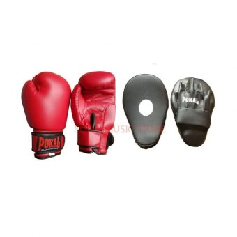 Pokal 10oz Boxing gloves Red with Pokal Focus Mitts