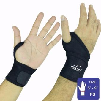 PROCARE PROTECT #2006 Wrist Support Wrap, 4mm Thick Neoprene Pair (Black)
