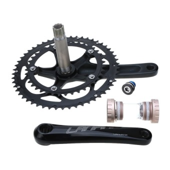 Road Bike Bicycle CNC Aluminum Alloy 39-53T Teeth Chainwheel Crank Crankset Sprocket Axle (Intl)