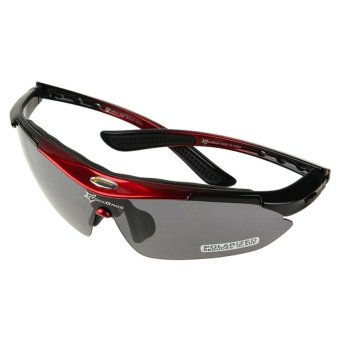 RockBros Polarized Cycling Bike Bicycle Sunglasses Glasses Goggles (Red)