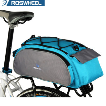 ROSWHEEL Waterproof MTB Cycling Bicycle Bike Bag Rear Seat Trunk Bag Bycicle Accessories Blue